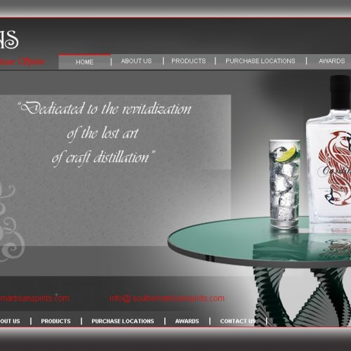 Southern Artisan Spirits website by Simple Intelligent Systems