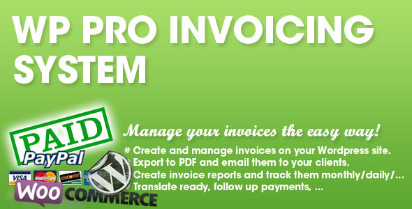 WP PRO Invoicing system