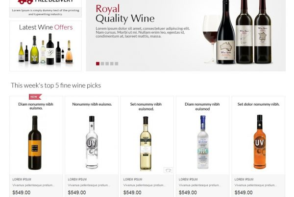 Wine Home website by simple intelligent systems