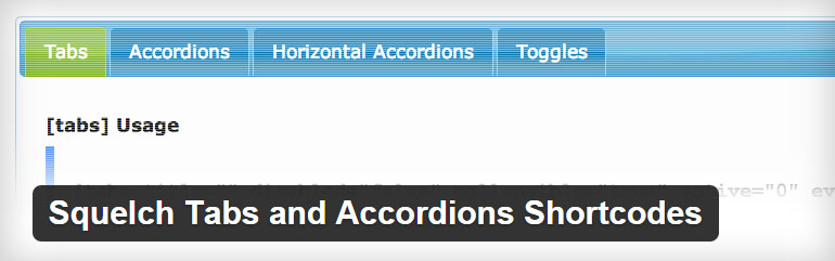 Squelch Accordions Shortcodes